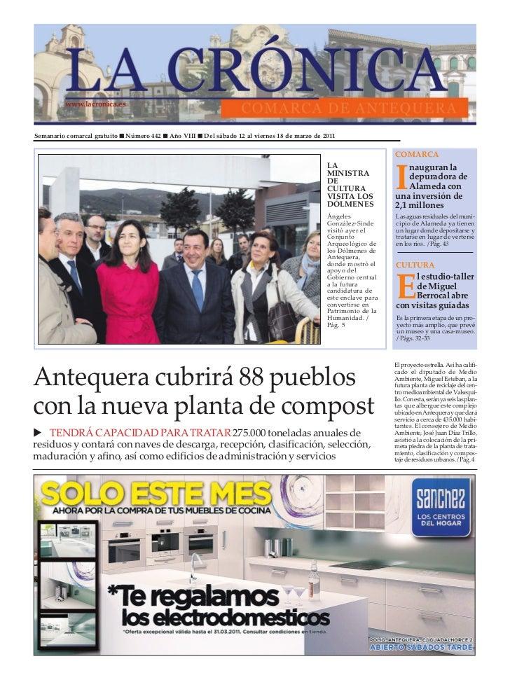 www.lacronica.esSemanario comarcal gratuito n Número 442 n Año VIII n Del sábado 12 al viernes 18 de marzo de 2011        ...