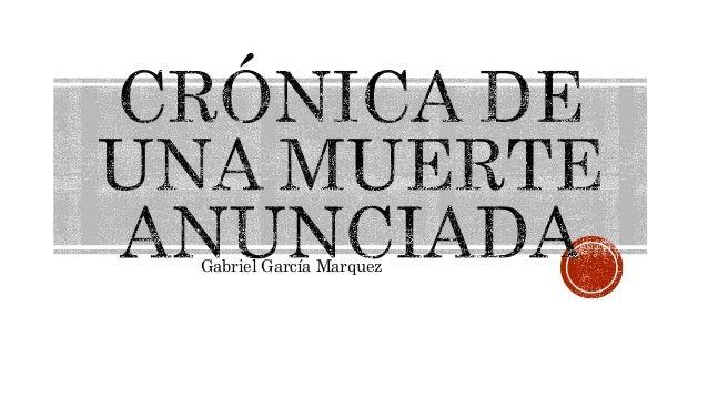 lenguaje cronica de una muerte: