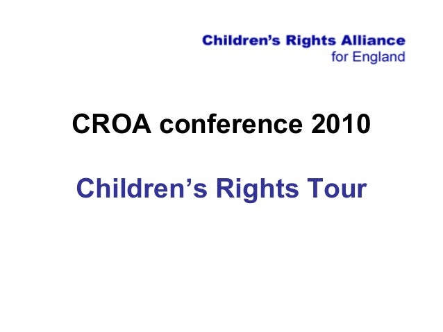 CROA conference 2010 Children's Rights Tour