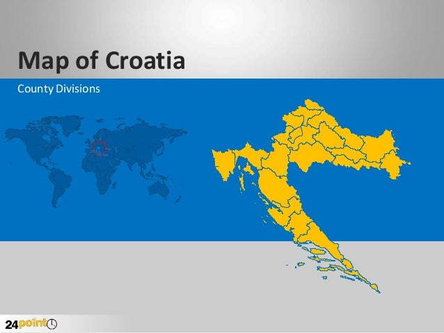 Croatia Map - Fast and Easy to Edit PowerPoint
