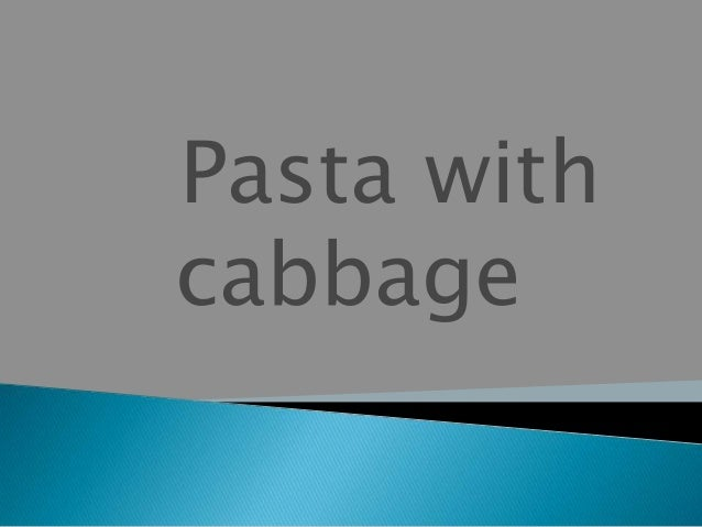 Croatia pasta with cabagge