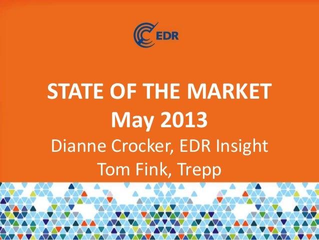 STATE OF THE MARKETMay 2013Dianne Crocker, EDR InsightTom Fink, Trepp