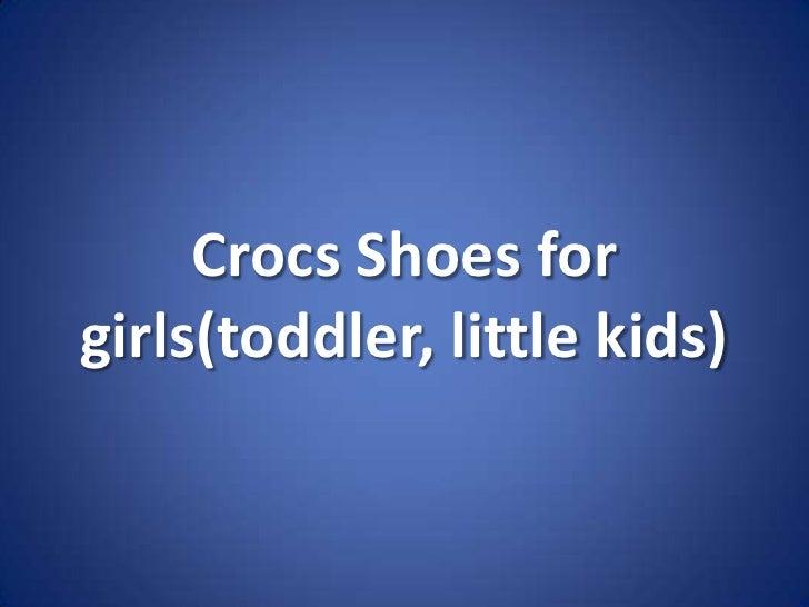 Crocs Shoes for girls(toddler, little kids)<br />