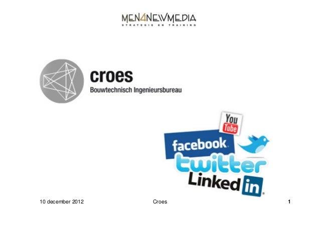 Croes socialmedia training 10 12 2012