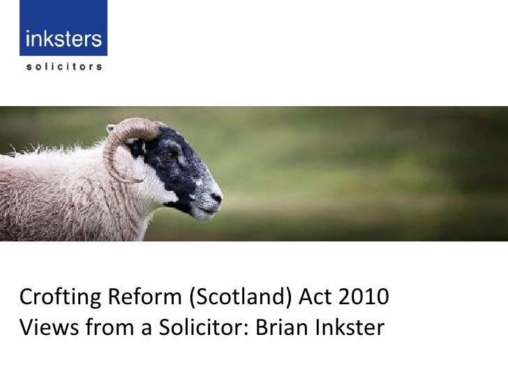 Crofting Reform (Scotland) Act 2010