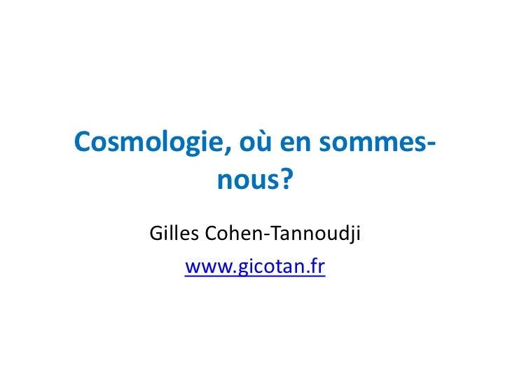 Croisière cosmologie 16072012