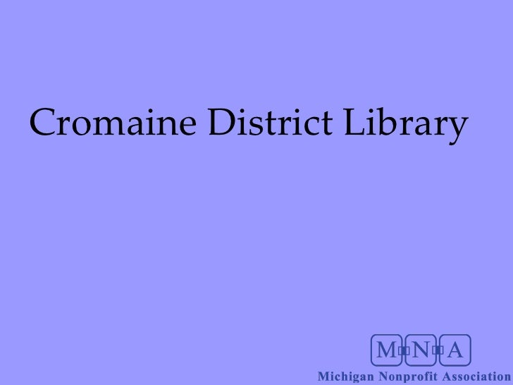 Cromaine Library Presentation