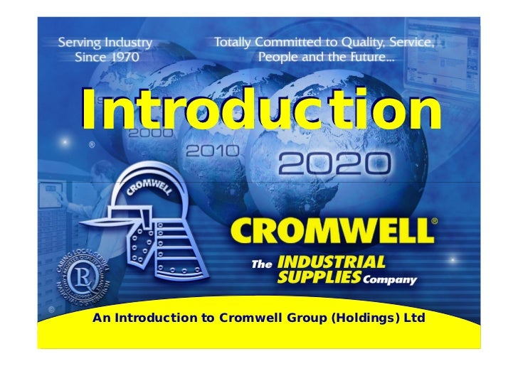 Intro to Cromwell 2012