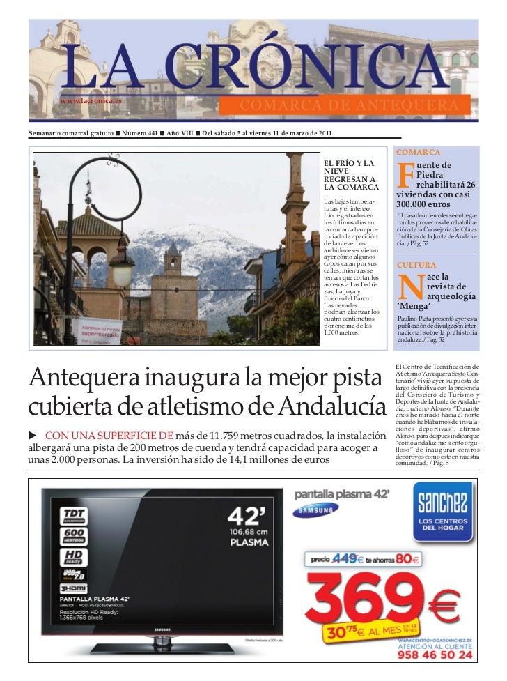 www.lacronica.esSemanario comarcal gratuito   Número 441   Año VIII   Del sábado 5 al viernes 11 de marzo de 2011         ...