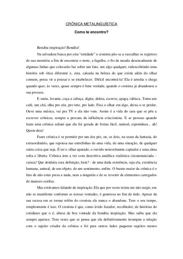 Cronica metalinguistica