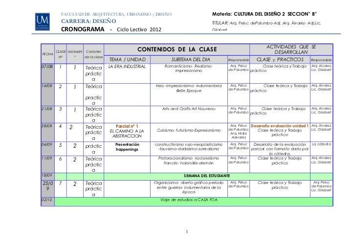 """FACULTAD DE ARQUITECTURA, URBANISMO y DISEÑO                                 Materia: CULTURA DEL DISEÑO 2 SECCION"""" B""""    ..."""