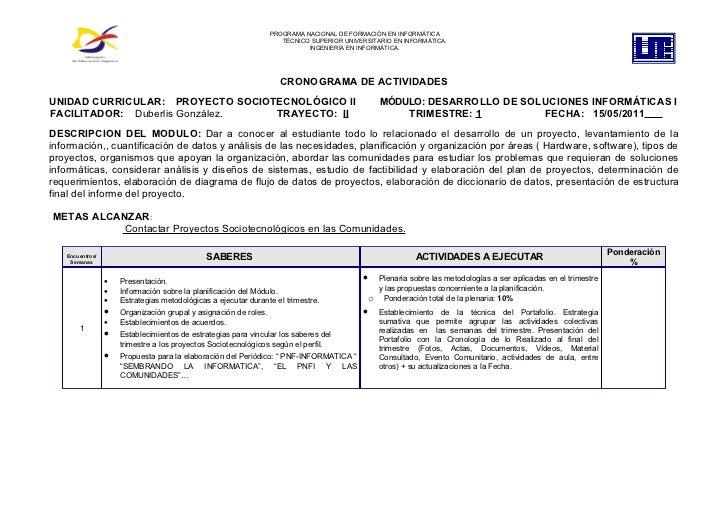 Cronograma de actividades duberlis-2011-pst-ii