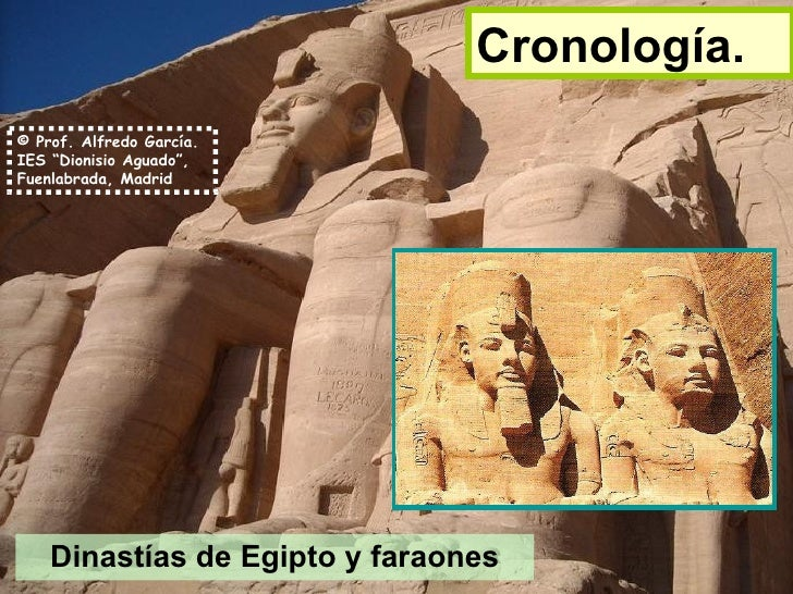 Cronología. Dinastías de Egipto y faraones