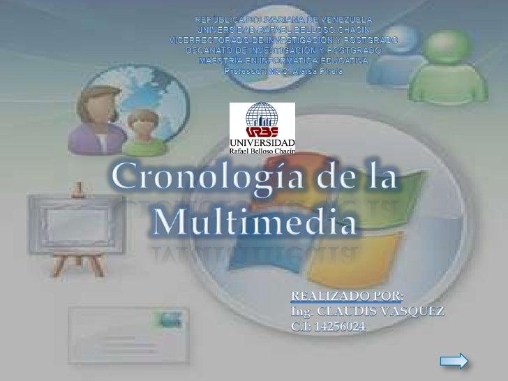 Cronología de la multimedia