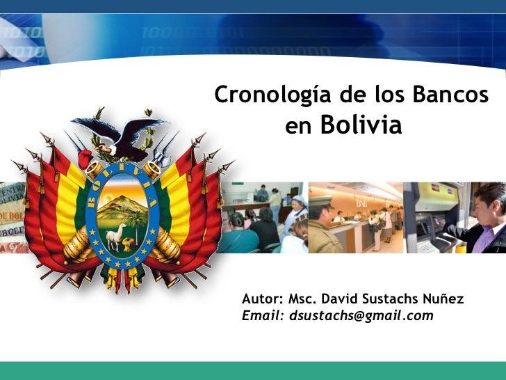 Cronología de los bancos en bolivia