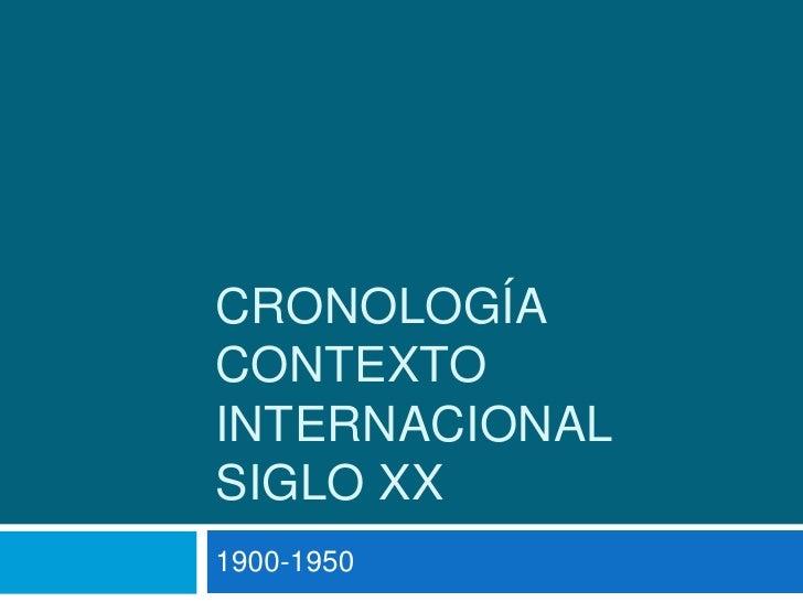 Cronología contexto internacional de Chile Siglo xx