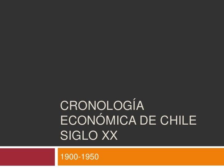 Cronología económica de Chile siglo XX<br />1900-1950<br />