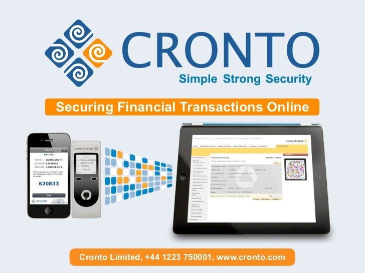 Cronto Visual Transaction Signing