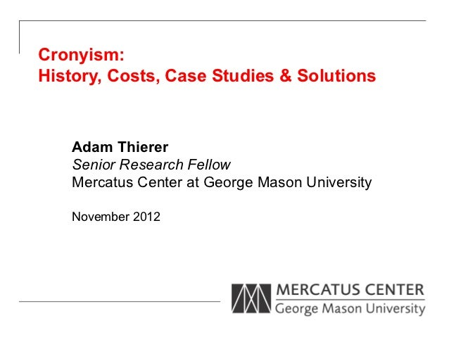 Cronyism: History, Costs, Case Studies & Solutions