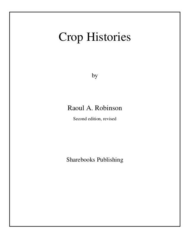 Crop histories