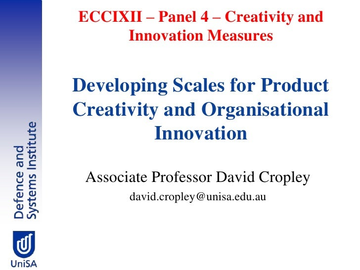 Developing Scales for Product Creativity and Organisational Innovation