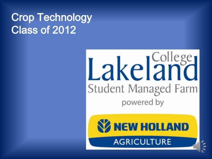 Crop TechnologyClass of 2012