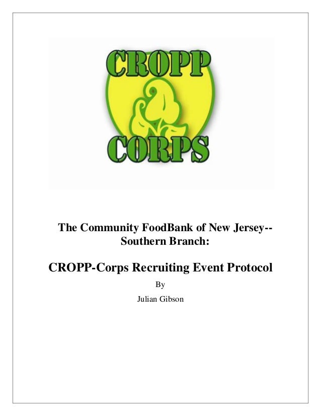 CROPP Program- event protocol and itinerary