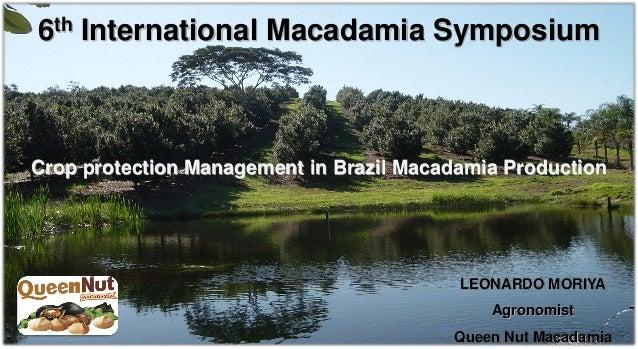 6 th   International Macadamia SymposiumCrop protection Management in Brazil Macadamia Production                         ...