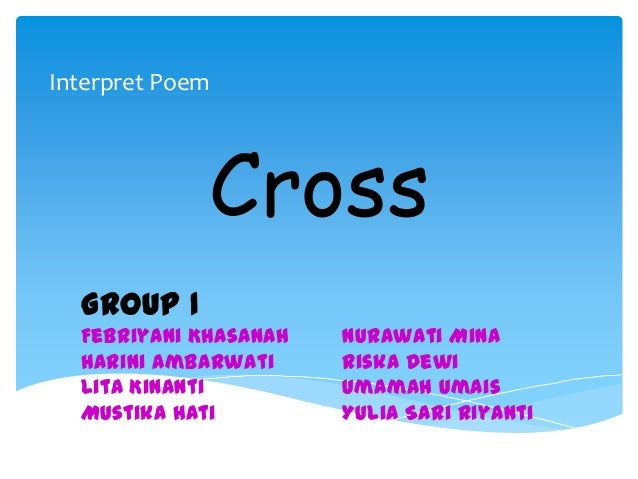cross by langston hughes essay