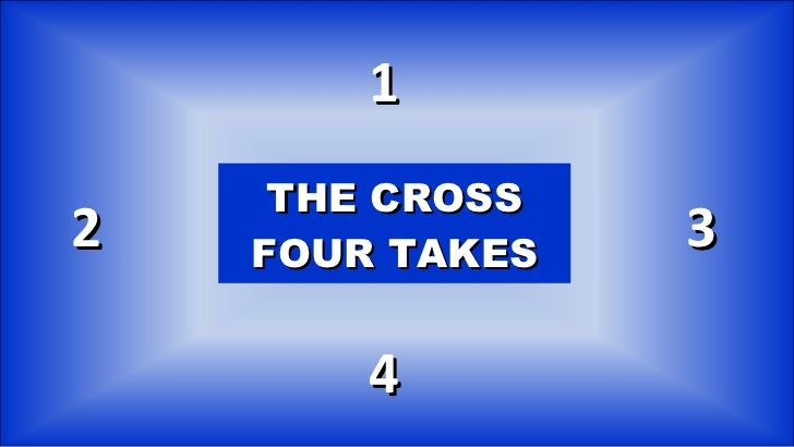 THE CROSS FOUR TAKES 1 2 4 3