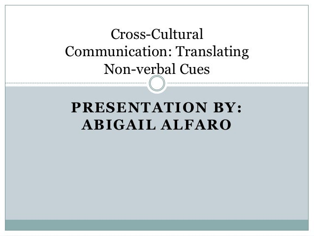 nonverbal communication and culture essay