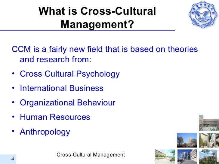 what is cross cultural management Critical issues in cross cultural management editors: wildman, jessica l,  griffith, richard l, armon, brigitte k (eds) the book represents the current most .
