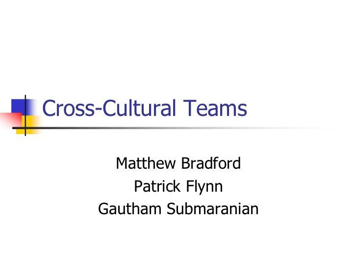 Cross cultural teams v0.1