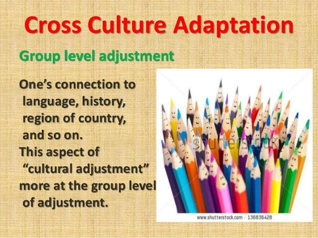 a study of cross cultural adaption of International journal of intercultural relations 30 (2006) 159–183 an exploratory study of cross-cultural adaptation of adolescent taiwanese unaccompanied.