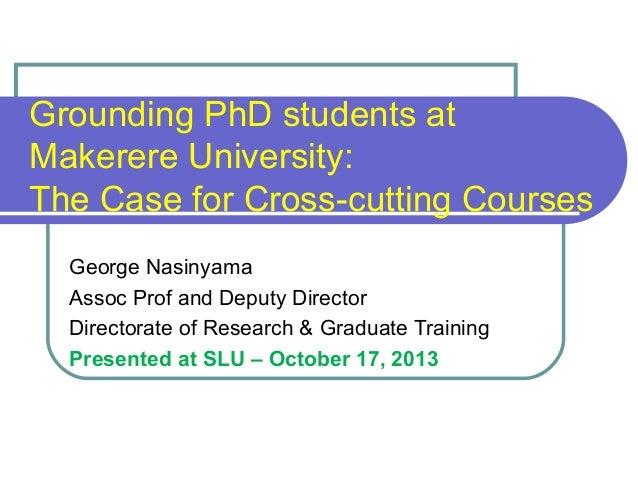 Cross cutting courses - Makerere University