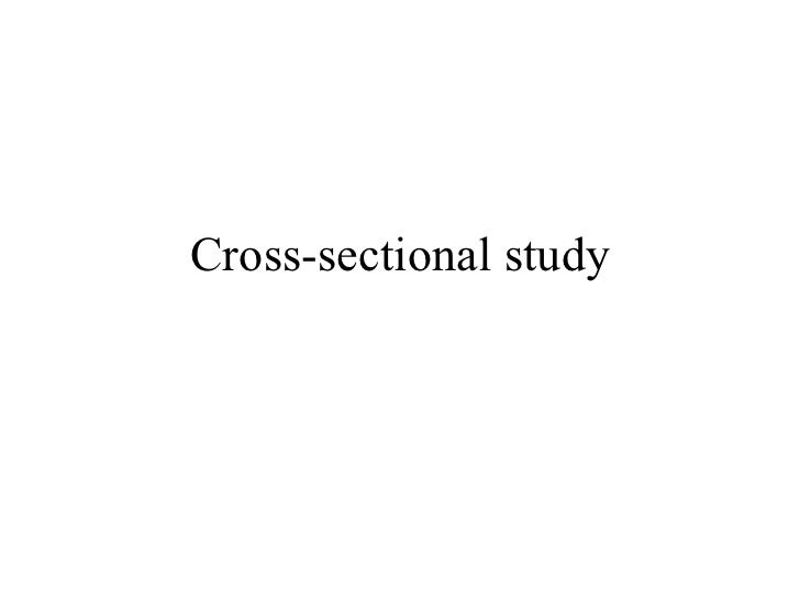 Cross sectional study overview