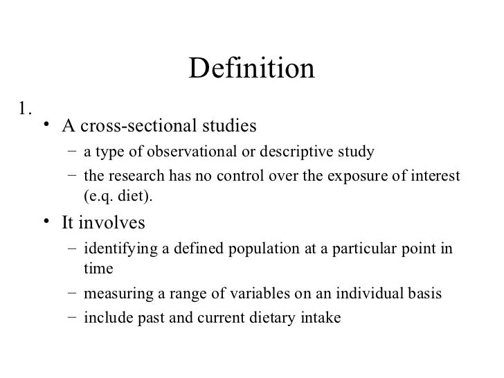 What Is Cross Section Study Cross Sectional Study