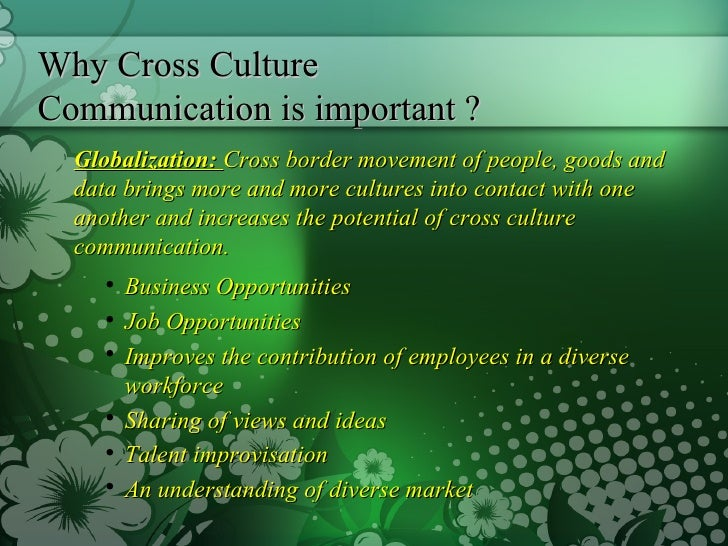 cross cultural communication essays Read this essay on cross cultural communication come browse our large digital warehouse of free sample essays get the knowledge you need in order to pass your classes and more.