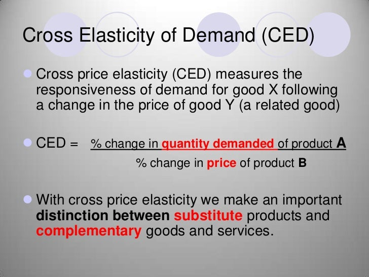 distinguish between price elasticity of demand Price elasticity of demand (elasticity of demand) is a measure used in economics to show the responsiveness or elasticity, of the quantity demanded of a good or.