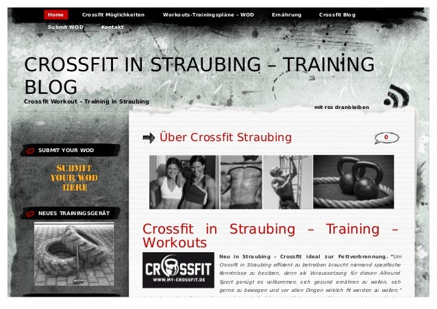 SUBMIT YOUR WOD NEUES TRAININGSGERÄT Über Crossfit Straubing 0 Crossfit in Straubing – Training – Workouts Neu in Straubing...