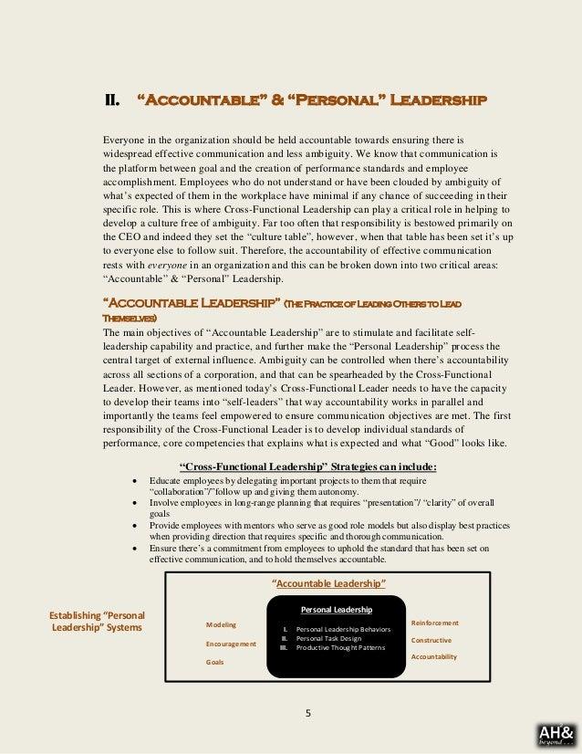 cross functional leadership whitepaper