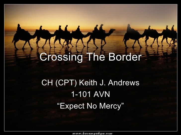 """Crossing The Border CH (CPT) Keith J. Andrews 1-101 AVN """"Expect No Mercy"""""""