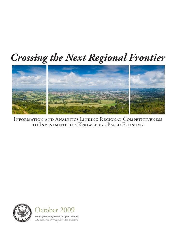 Crossing The Next Regional Frontier 2009