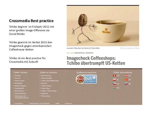 Crossmedia Best practiceTchibo beginnt im Frühjahr 2011 miteiner großen Image-Offensive viaSocial MediaTchibo gewinnt im H...