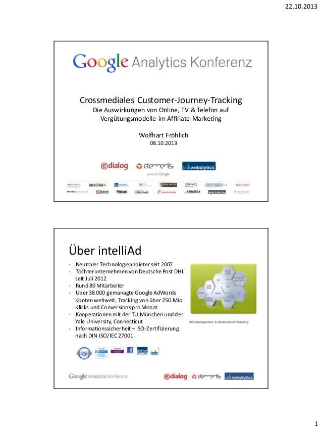 22.10.2013  Crossmediales Customer-Journey-Tracking Die Auswirkungen von Online, TV & Telefon auf Vergütungsmodelle im Aff...