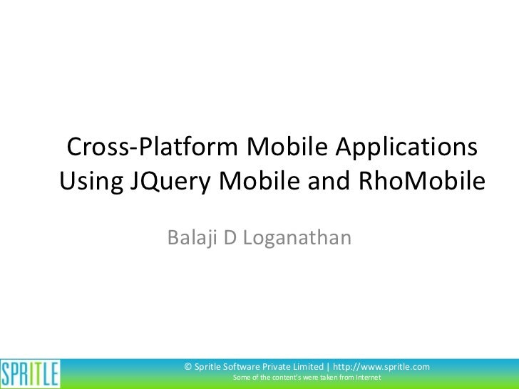 Cross platform mobile apps using rhomobile and jquery mobile