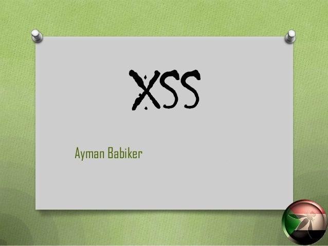 XSSAyman Babiker