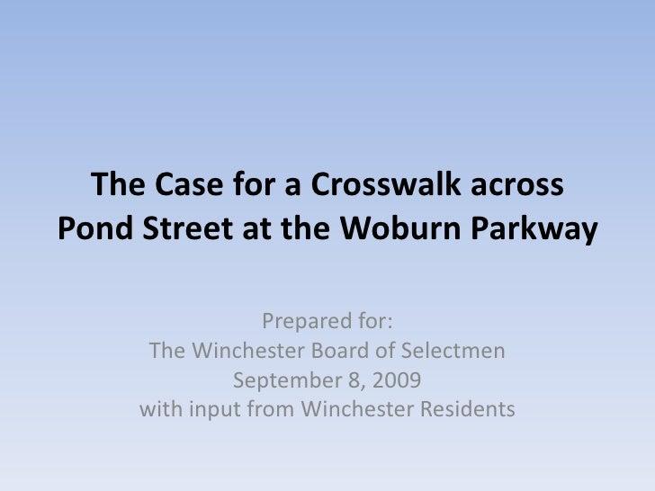 Crosswalk to Horn Pond