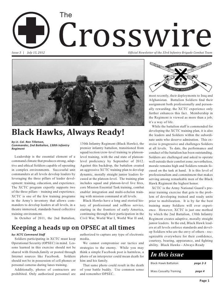 33d Infantry Brigade Crosswire Issue 3