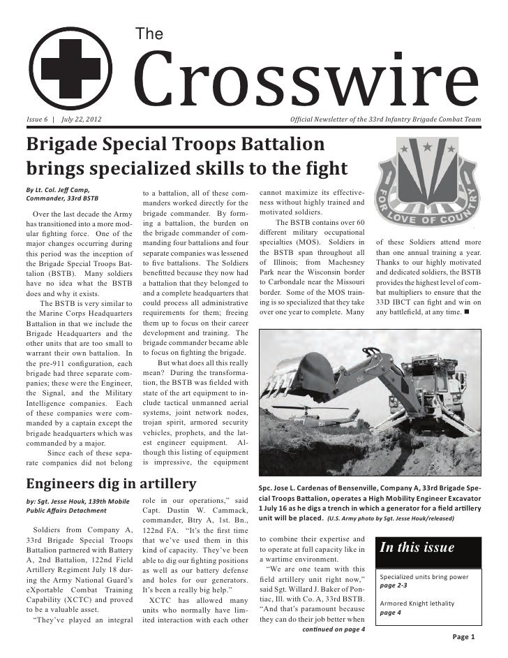 33d Infantry Brigade Crosswire Issue 6